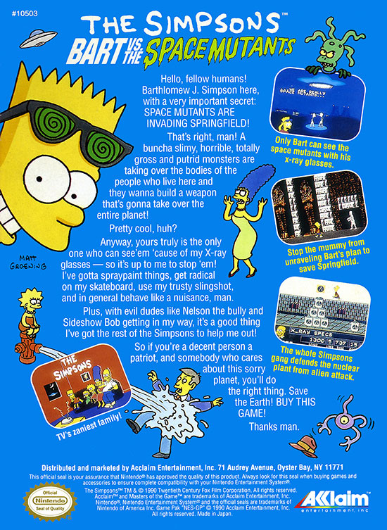 nes_simpsonsbartvsthespacemutants_back