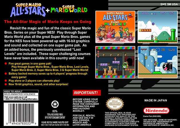 Neon Streetlight Games » Super Mario All-Stars + Super Mario